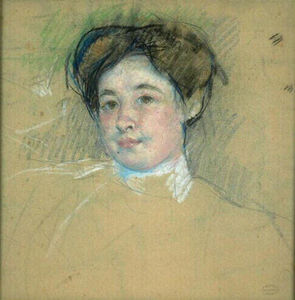 Mary Stevenson Cassatt - Portrait of young woman