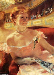 Mary Stevenson Cassatt - Woman with a Pearl Necklace