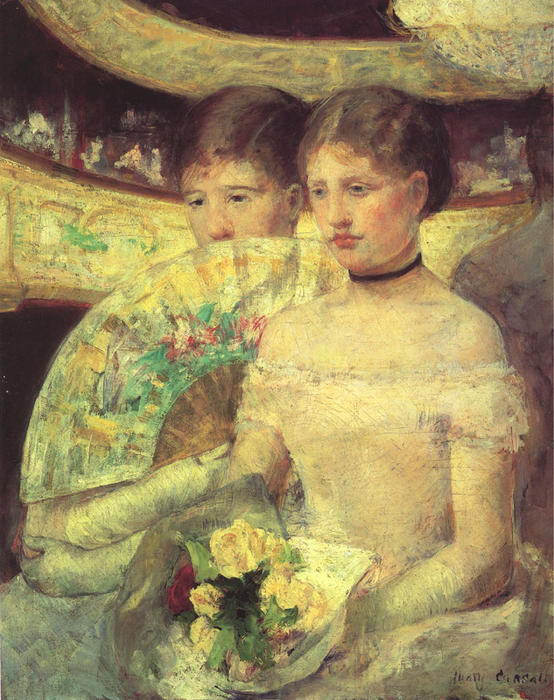 The Loge, Oil On Canvas by Mary Stevenson Cassatt (1844-1926, United States)