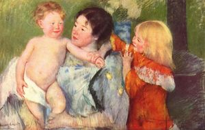 Mary Stevenson Cassatt - After the bath