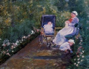 Mary Stevenson Cassatt - Children in a Garden