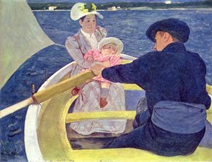 Mary Stevenson Cassatt - The Boating Party - (Famous paintings)