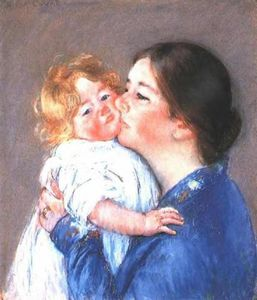 Mary Stevenson Cassatt - A Kiss for Baby Anne (no.2)