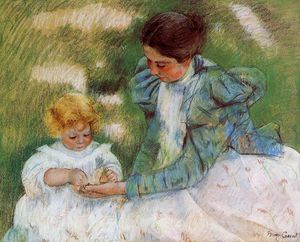 Mary Stevenson Cassatt - Mother Playing with Her Child