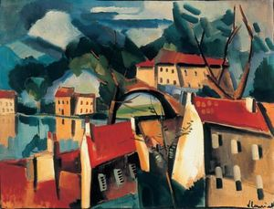 Maurice De Vlaminck - Village on the River