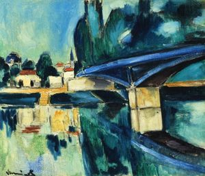 Maurice De Vlaminck - The Bridge at Nogent