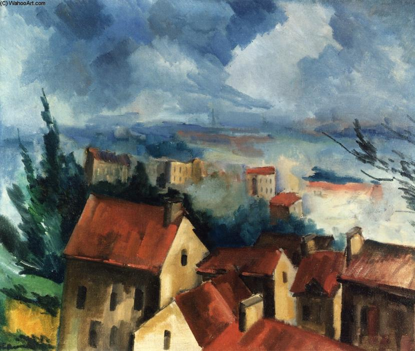Beauce Landscape, Oil On Canvas by Maurice De Vlaminck (1876-1958, France)