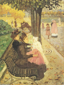 Maurice Brazil Prendergast - The Tuileries Gardens, Paris