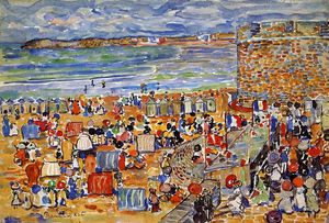 Maurice Brazil Prendergast - On the Beach, St. Malo
