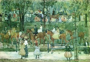 Maurice Brazil Prendergast - The Bridle Path, Central Park