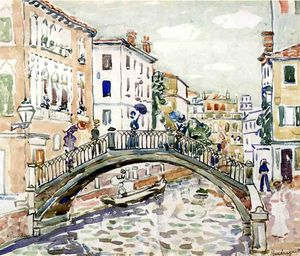 Maurice Brazil Prendergast - Little Bridge, Venice