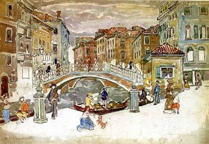 Maurice Brazil Prendergast - Venice, The Little Bridge
