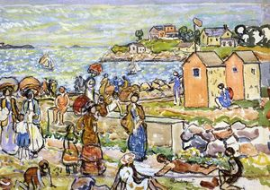 Maurice Brazil Prendergast - Bathers and Strollers