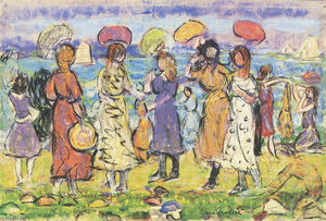 Maurice Brazil Prendergast - Sunny Day at the Beach