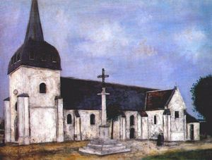 Maurice Utrillo - Church of St. Hilary