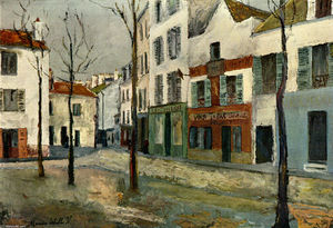 Maurice Utrillo - Square Tertre on Montmartre
