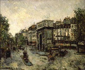 Maurice Utrillo - Gate Saint-Martin in Paris