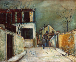 Maurice Utrillo - Mont-Cenis street in the Snow