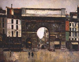 Maurice Utrillo - The gate Saint-Martin
