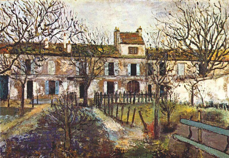 The Garden at Montmagny by Maurice Utrillo (1883-1955, France) |  | WahooArt.com