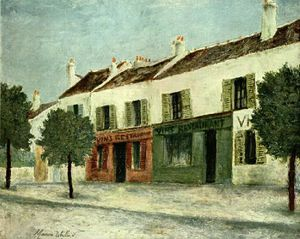 Maurice Utrillo - Bistros in a Suburb