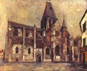 Maurice Utrillo - Church at Villiers le Bel