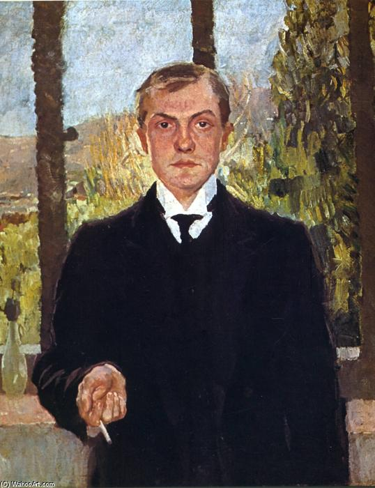 Self-Portrait in Florence, Oil On Canvas by Max Beckmann (1884-1950, Germany)