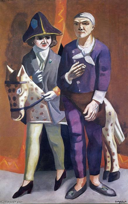 The artist and his wife, 1925 by Max Beckmann (1884-1950, Germany) | Museum Quality Reproductions | WahooArt.com