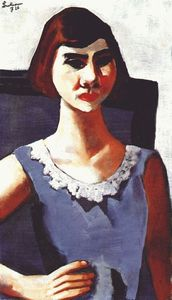 Max Beckmann - Portrait of quappi in blue