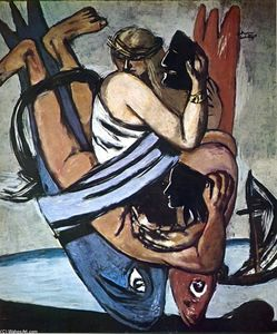 Max Beckmann - Journey on the fish