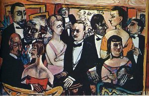 Max Beckmann - Party in Paris