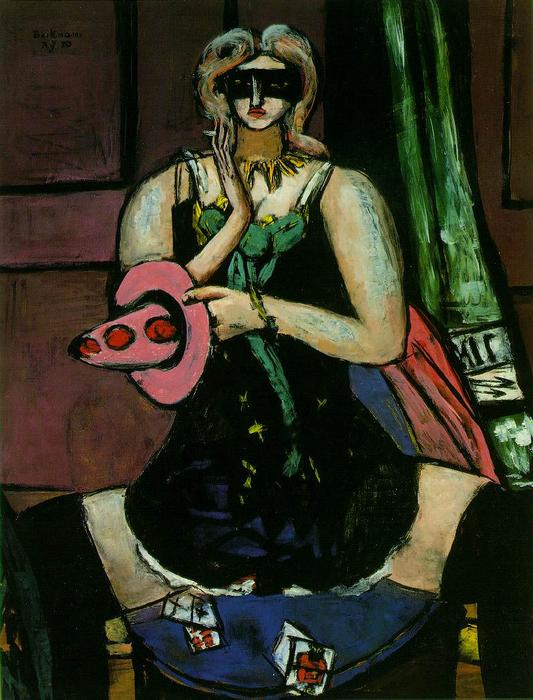 Columbine, 1950 by Max Beckmann (1884-1950, Germany) | Painting Copy | WahooArt.com