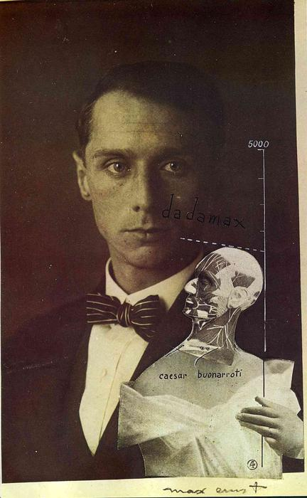 Punching Ball or the Immortality of Buonarroti, Gouache by Max Ernst (1891-1976, Germany)