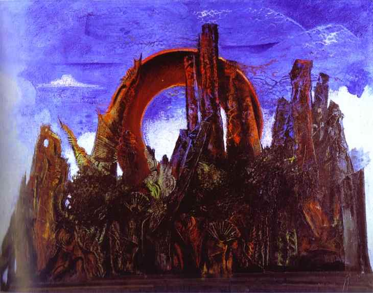 Forest, Oil On Canvas by Max Ernst (1891-1976, Germany)