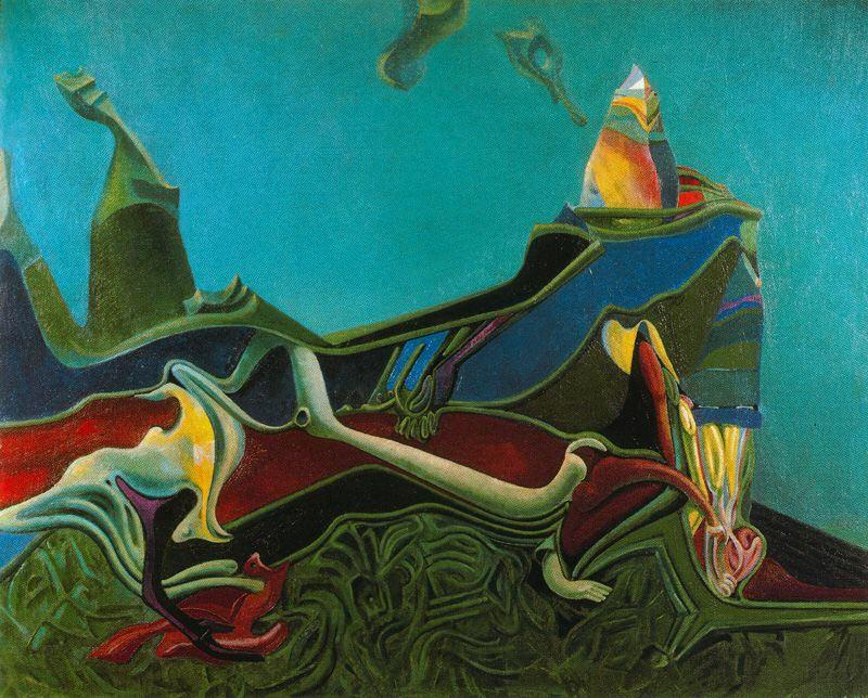 Landscape with Wheatgerm, Oil On Canvas by Max Ernst (1891-1976, Germany)