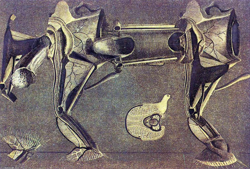 A little sick horse's leg, Collage by Max Ernst (1891-1976, Germany)