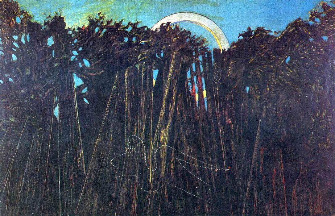 The Embalmed Forest, Oil On Canvas by Max Ernst (1891-1976, Germany)