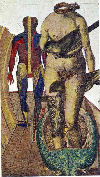 The Word (Woman Bird), Collage by Max Ernst (1891-1976, Germany)