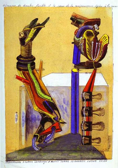 The slug room, Collage by Max Ernst (1891-1976, Germany)