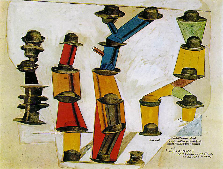 The hat makes the man, Collage by Max Ernst (1891-1976, Germany)