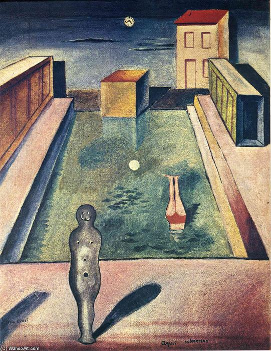 Aquis submersus, 1919 by Max Ernst (1891-1976, Germany) | WahooArt.com