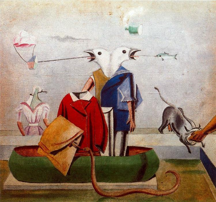Birds also Birds, Fish Snake and Scarecrow, 1921 by Max Ernst (1891-1976, Germany) | WahooArt.com