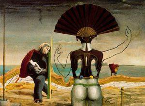 Max Ernst - Woman, Old Man and Flower Femme