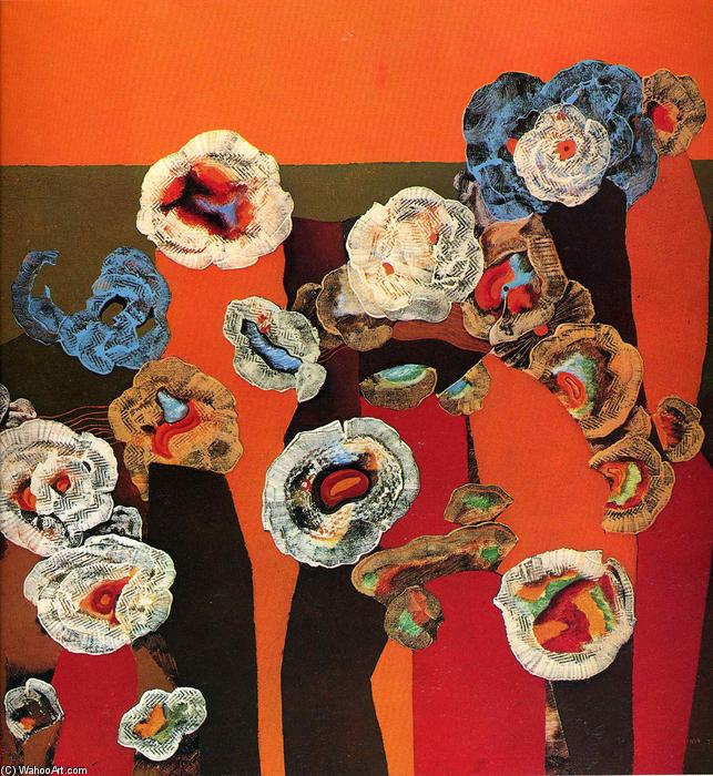 Flowers of seashells, 1929 by Max Ernst (1891-1976, Germany) | Art Reproduction | WahooArt.com