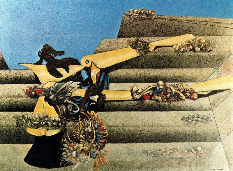 Garden Airplane Trap, 1936 by Max Ernst (1891-1976, Germany) | Famous Paintings Reproductions | WahooArt.com