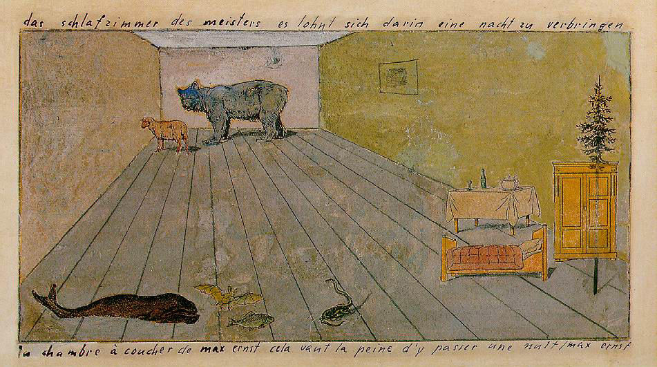 The master's bedroom, it's worth spending a night there by Max Ernst (1891-1976, Germany) | WahooArt.com