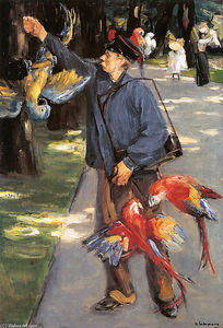 Max Liebermann - Parrot caretaker in Artis