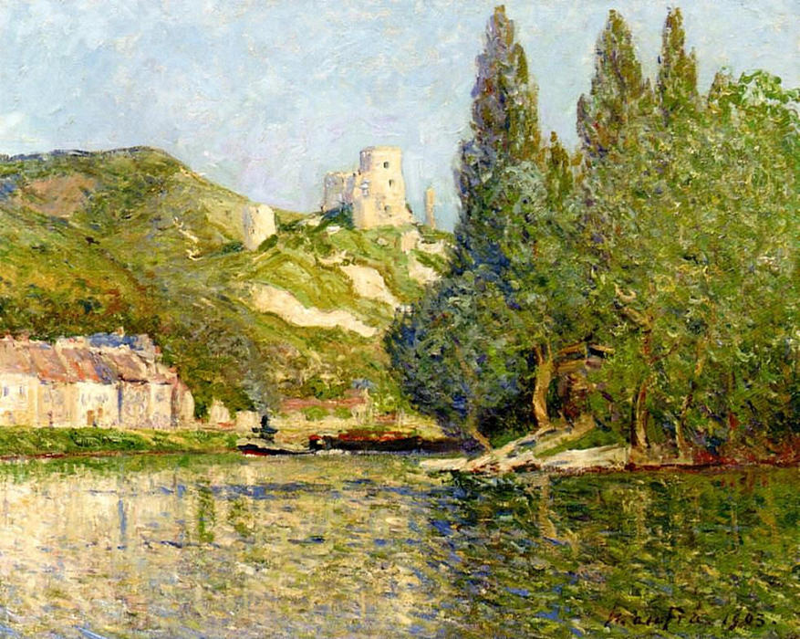 The castle Gaillard, 1903 by Maxime Emile Louis Maufra (1861-1918) | Paintings Reproductions Maxime Emile Louis Maufra | WahooArt.com