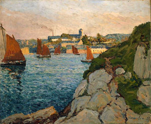Maxime Emile Louis Maufra - Douarnenez in Sunshine