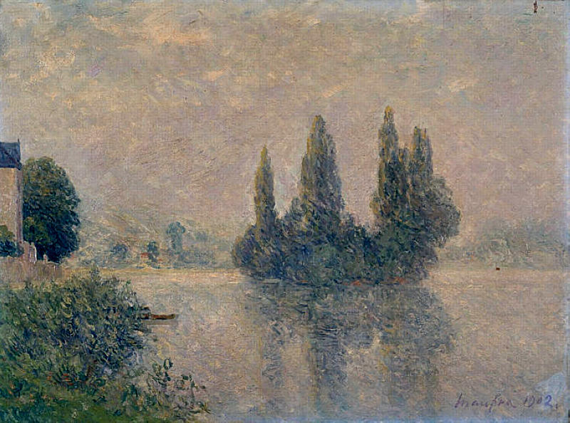Order Art Reproductions | Fog on the Seine (The Andelys), 1902 by Maxime Emile Louis Maufra (1861-1918) | WahooArt.com